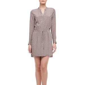 Vince | 100% Silk Diagonal Print Shirt Dress